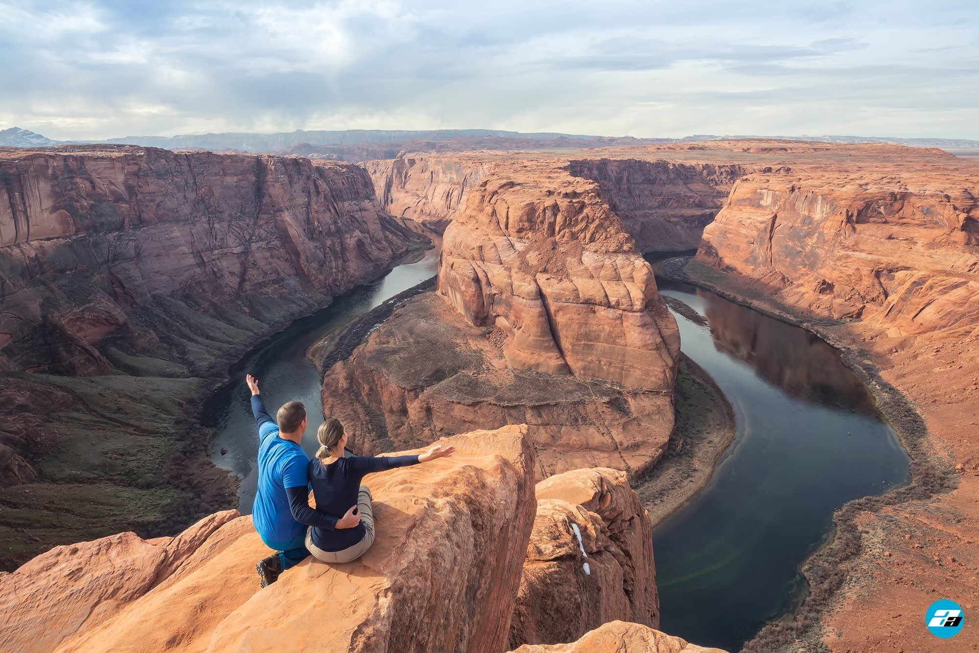 Horseshoe Bend, Arizona, USA. Family View. Great View. Family Trip. Town of Page.