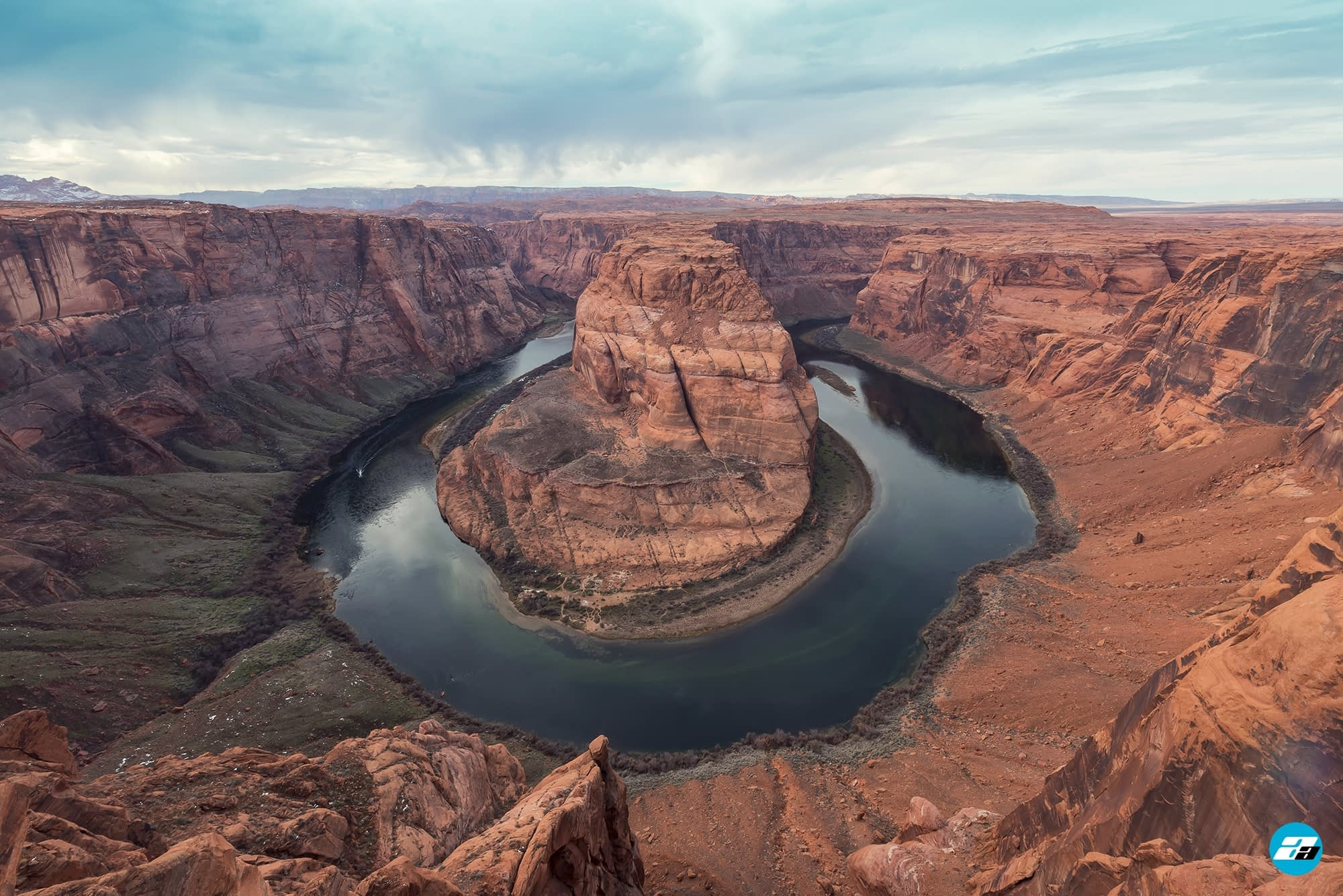 Horseshoe Bend, Arizona, USA. Family View. Great View. Town of Page. River Bend. Arizona Attraction.
