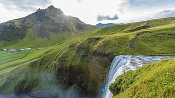 Iceland Travel, Ring Road, Skógafoss Waterfall