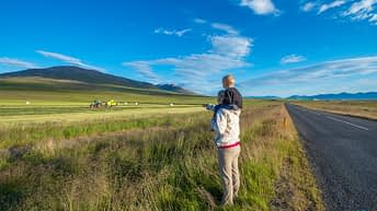 Iceland Travel, Ring Road, Mother and Son.