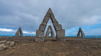 Iceland Travel, Ring Road, The Arctic Henge, Raufarhöfn