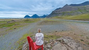 Iceland Travel, Ring Road, The Red Chair. Iceland Adventure.