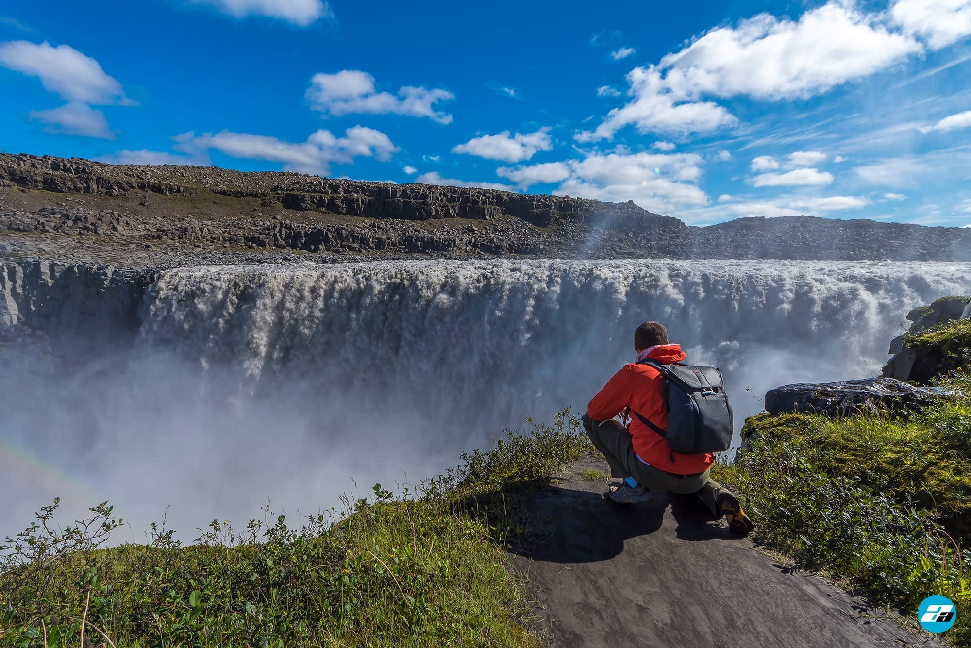 Iceland Travel, Ring Road, Dettifoss Waterfall. Traveler. Explorer.